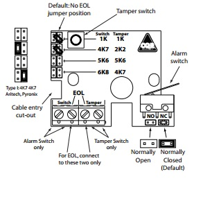 PA-wiring Alarmed Exit Wire Diagram on