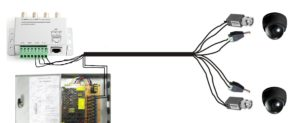 How to run a CAT5 cable for CCTV cameras